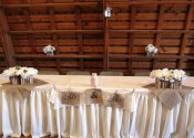 Rustic Wedding Reception Head Table